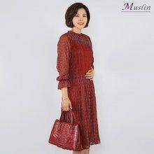 올플리츠 쉬폰원피스 -OP8031622-모슬린 엄마옷 마담