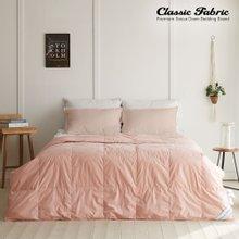 핑크 거위털이불 1000g+이불커버 싱글세트