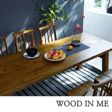 우드인미 애쉬원목 6인용 원목식탁 테이블 2000_T40/원목책상/우드슬랩식탁/카페테이블