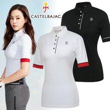 [까스텔바작] 스트레치 소매 끝단 포인트 여성 7부 티셔츠/골프웨어_244850