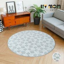 리브맘 사각무늬 원형카페트 러그(170x170cm)