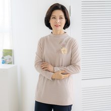 엄마옷 마담4060 코사지꽃티셔츠-ZTE002025-
