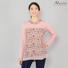 잔꽃 카라 티셔츠-TS8031418-모슬린 엄마옷 마담 미시