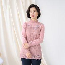엄마옷 마담4060 이중꽃레이스티셔츠-ZTE002024-