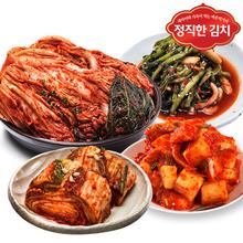 [정직한김치] 100%국내산 포기김치5kg+열무김치2kg+깍두기2kg
