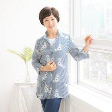 마담4060 엄마옷 스트라이프플라워셔츠 QBL906051