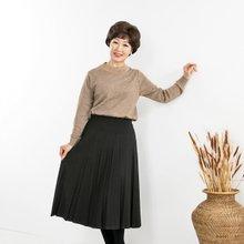 마담4060 엄마옷 데일리빗살주름스커트-ZSK912003-