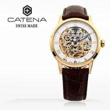 카테나(CATENA) 오토매틱 남성가죽시계 (CA018-1BU/본사정품 백화점AS가능)