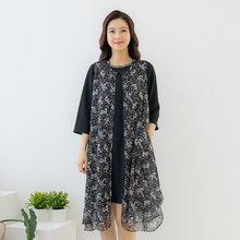 마담4060 엄마옷 반짝반짝플라워조끼-ZVE005002-