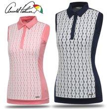 [아놀드파마] 폴리스판 원형 레이스 여성 민소매 티셔츠/골프웨어_244188