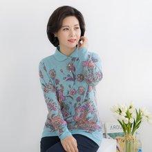 엄마옷 마담4060 수려반오픈카라티셔츠-ZTE002021-