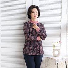 엄마옷 마담4060 꽃드로잉티셔츠-ZTE002020-