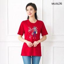 [엄마옷 모슬린] 시원한 인견 라운드 티셔츠 TS005110