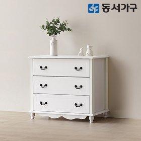 [동서가구]화이트 미디어 3단서랍장 DFAC0213