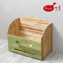 [앳홈] 스마일 원목 대형 이동식 정리함 /청소기 보관함