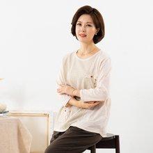 마담4060 엄마옷 체크배색생활한복상의 QKC908002