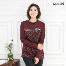 엄마옷 모슬린 이쁘잖아 자수 티셔츠 TP910282