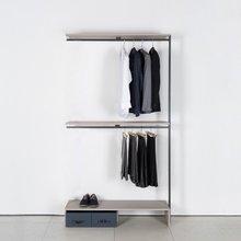 프레임 드레스룸 1200 짧은옷장(연결형 2색 중 택1)