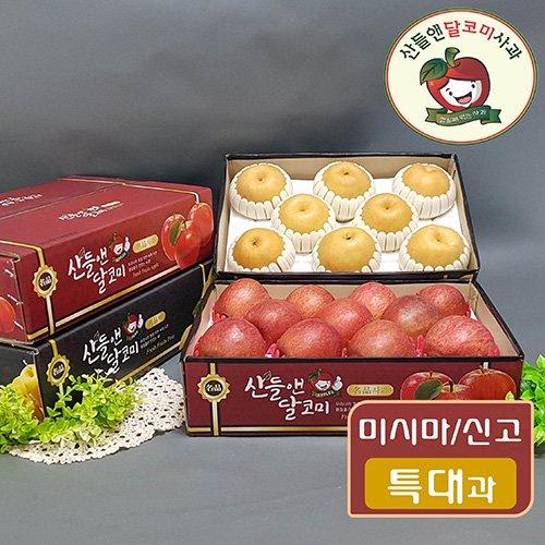 [산들앤사과배] 사과 4kg (1박스) + 배 5kg (1박스)