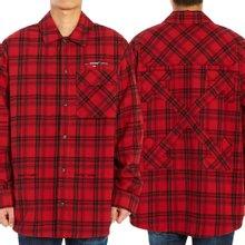 [오프화이트] 플란넬 체크 OMGA098R 20G71021 2001 남자 셔츠