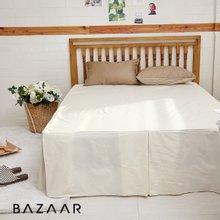 [바자르] 심플라인 호텔식 광목 침대스커트(K)