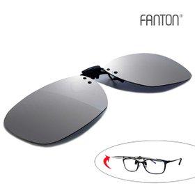[FANTON] 팬톤 플립업(flip-up) 편광 미러 클립선글라스 FU02_실버미러