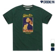 [크루클린] TRS-032 JUICY 오버핏 반팔티셔츠