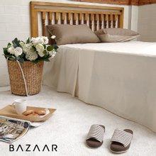 [바자르] 심플라인 호텔식 광목 침대스커트(Q)