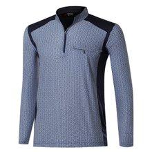[파파브로]남자 프리미엄 스판 등산복 긴팔티셔츠 LM-A9-209-1-네이비