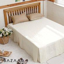 [바자르] 심플라인 호텔식 광목 침대스커트(S)