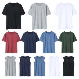 무료배송 전국민아이템 남여공용 라운드 무지 티셔츠/나시 12종 모음전 多