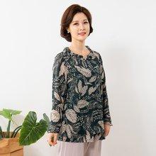 마담4060 엄마옷 나뭇잎이중블라우스 QBL908005