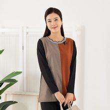 엄마옷 마담4060 웨이브배색티셔츠 ZTE909001