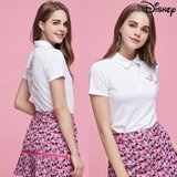 [디즈니] 여성 라운딩 카라 티셔츠 화이트