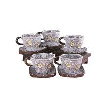[박씨상방](5인)분청 큰꽃 커피잔 세트