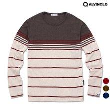 [앨빈클로]AVT-387 배색 스트라이프 긴팔 티셔츠