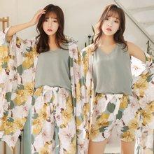 모스트2059 여성 잠옷 로브가디건 4종세트 (6type)