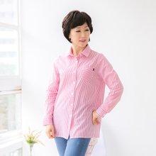 마담4060 엄마옷 스티치스트라이프셔츠 QBL904108