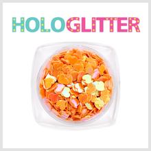 엘리카 홀로글리터 하트(오렌지) -H154-