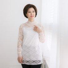엄마옷 마담4060 은하수레이스티셔츠 QTE902056