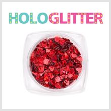 엘리카 홀로글리터 하트(레드) -H151-