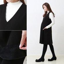[스위트플러스]밍크털 조끼 원피스 임부복/임산부원피스/임부원피스