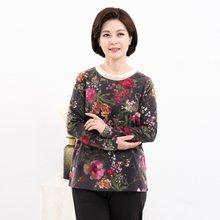 마담4060 엄마옷 꽃과진주티셔츠 ZTE910153