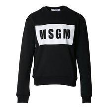 [MSGM] 박스 로고 스웨트셔츠 2641MDM96 195299 99 /135881