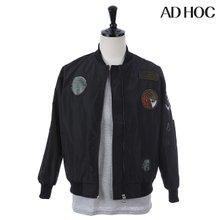 AD HOC 남녀공용 와펜 버머재킷(HT4UJ9B)
