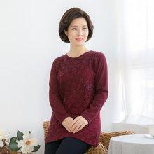 마담4060 엄마옷 스팽글배색티셔츠 QTE901072