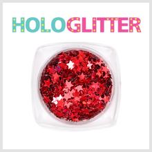 엘리카 홀로글리터 별(레드) -H147-