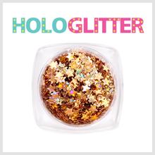엘리카 홀로글리터 별(골드) -H145-