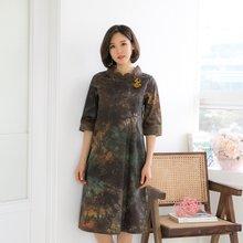 마담4060 엄마옷 삼베배색생활한복 QKC903004