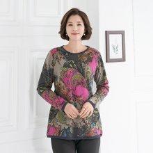 엄마옷 모슬린 겉기모 배색페이즐리 티셔츠 TS910371